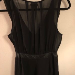 Silence and Noise Black Romper
